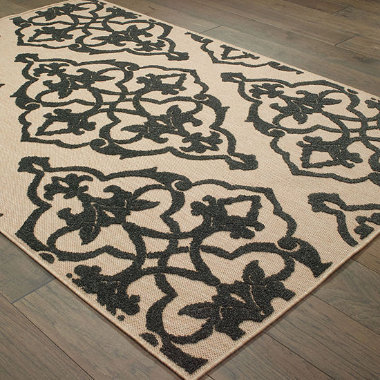 Covington Home Caribe Filigree Rectangular Indoor Outdoor Rugs