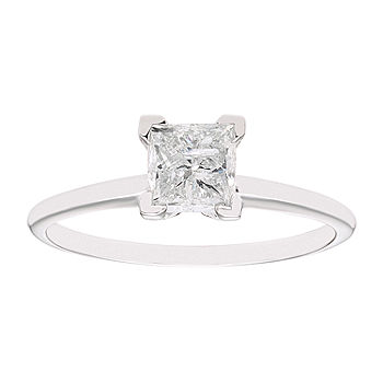 1 Ct Certified Diamond Solitaire Ring Jcpenney Color White Gold