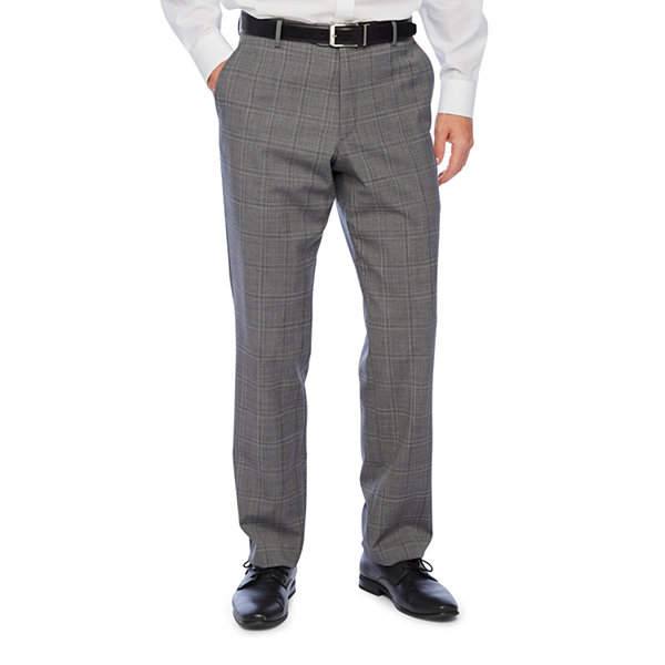 Stafford Super Suit Mens Plaid Stretch Classic Fit Suit Pants