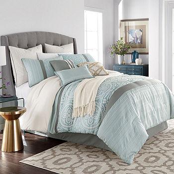 JCPenney Home Mayer 10 pc. Jacquard Comforter Set, Color: Multi