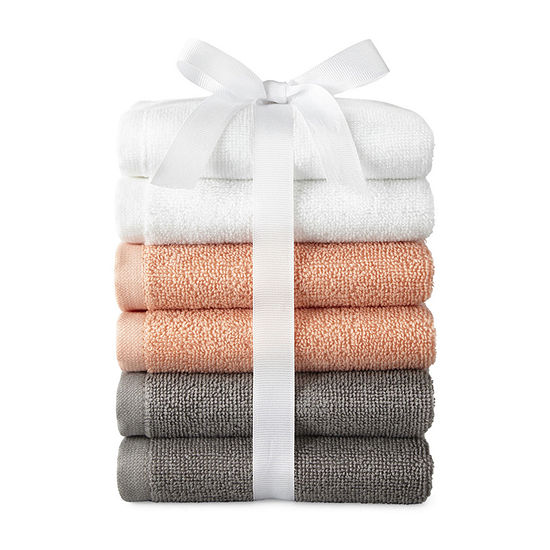 Morgan 6pc Washcloth Set 6-pc. Washcloth