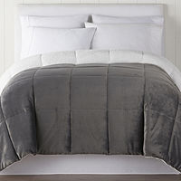 JCPenney deals on North Pole Trading Co. Faux Mink to Sherpa Comforter