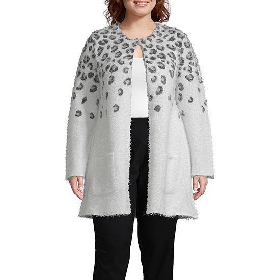 Worthington Womens Long Sleeve Lady Coat - Plus