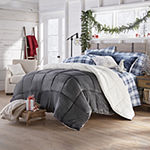 North Pole Trading Co. Faux Mink to Sherpa Comforter