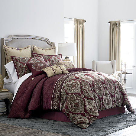 JCPenney Home Carson 7-pc. Jacquard Comforter Set, One Size , Multiple Colors