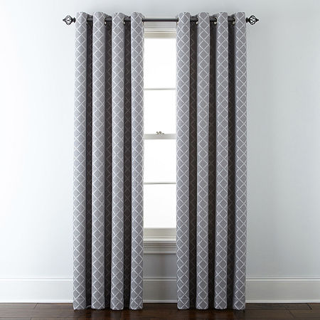(89% OFF) Liz Claiborne Light-Filtering Grommet-Top Curtain Panels, Many Styles $9.99 Deal
