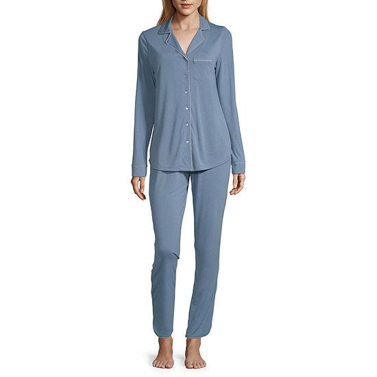Ambrielle Womens Pant Pajama Set 2-pc. Long Sleeve
