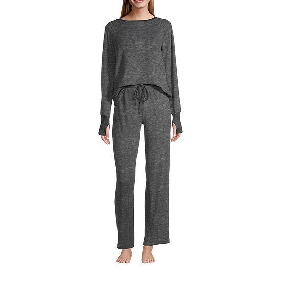 Rene Rofe Womens Pant Pajama Set 2-pc. Long Sleeve