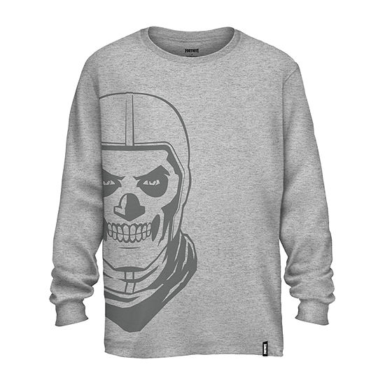 Big Boys Crew Neck Fortnite Long Sleeve Graphic T-Shirt