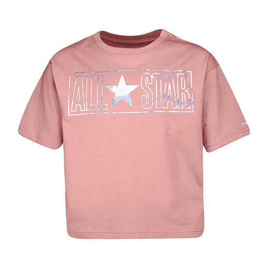 Converse Big Girls Crew Neck Short Sleeve Graphic T-Shirt