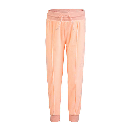 Converse Velour Big Girls Mid Rise Slim Pull-On Pants
