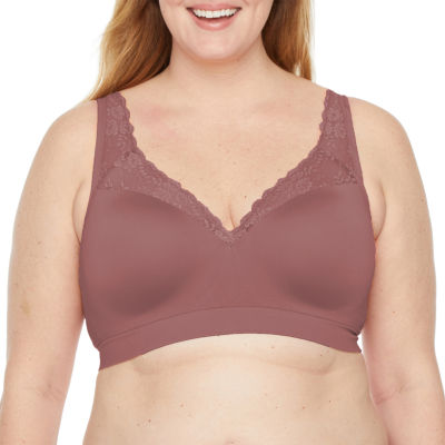 Ambrielle Full Figure Seamless Padded Wireless Push Up Full Coverage Bra-8518