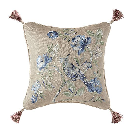 Croscill Classics Fleur Square Throw Pillow