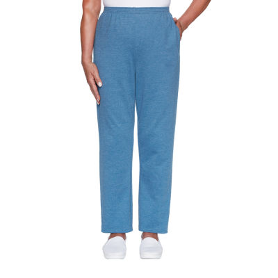 Alfred Dunner Long Weekend Womens Straight Pull-On Pants