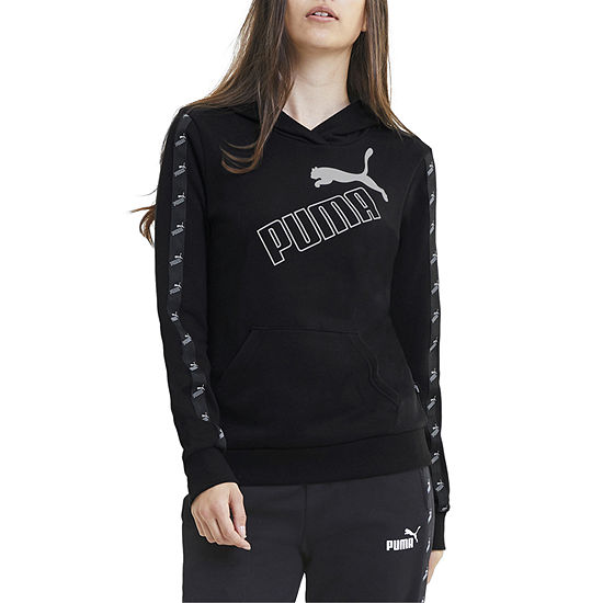 Puma Amplified Womens Hooded Neck Long Sleeve Hoodie