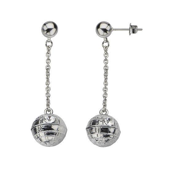 Star Wars® Stainless Steel 3D Death Star Earrings