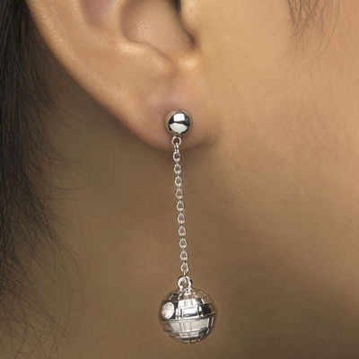 Star Wars® Stainless Steel 3D Death Star Earrings