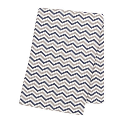 Trend Lab® Chevron Swaddle Blanket - Navy and Gray