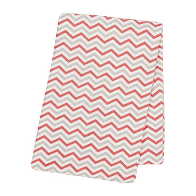Trend Lab® Chevron Swaddle Blanket - Coral and Gray