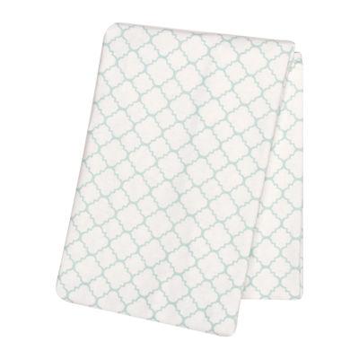 Trend Lab® Mint Quarterfoil Swaddle Blanket