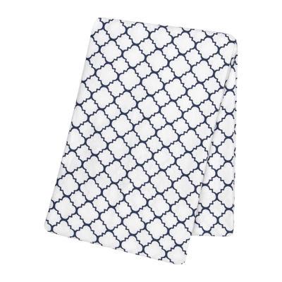 Trend Lab® Navy Quarterfoil Swaddle Blanket