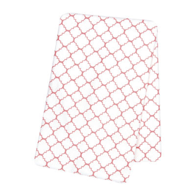 Trend Lab® Coral Quarterfoil Swaddle Blanket