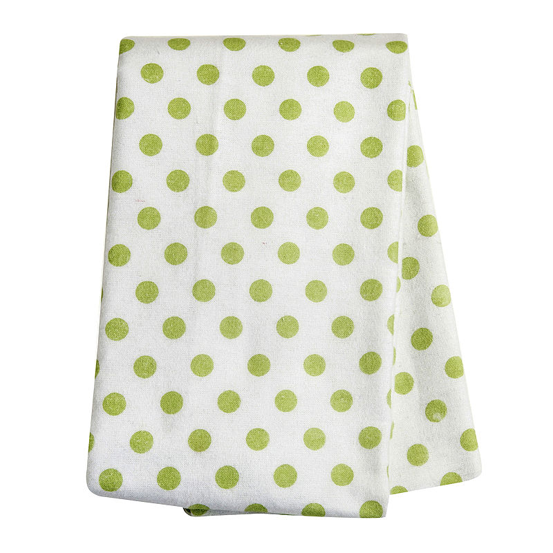 Trend Lab Sage Dot Deluxe Swaddle Blanket, Sage White