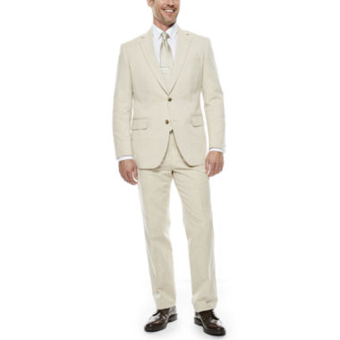 jcpenney.com | Stafford® Tan Linen-Cotton Suit Separates - Classic Fit