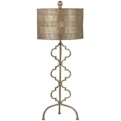 Metal Gold Leaf Table Lamp