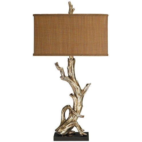 Driftwood Silver Leaf Table Lamp