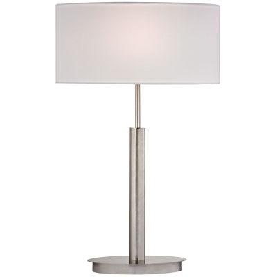 Port Elizabeth Satin Nickel Table Lamp