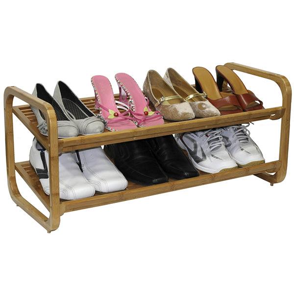 Perfect Oceanstar® 2 Tier Bamboo Shoe Rack Nice Look
