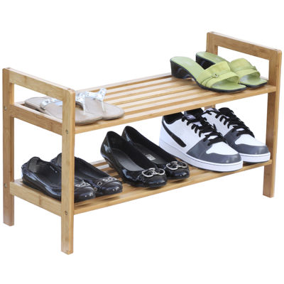 Oceanstar® 2-Tier Bamboo Shoe Rack