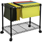 Oceanstar® 1-Tier Rolling File Cart