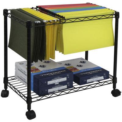 Oceanstar® 1-Tier Rolling File Cart