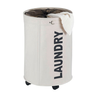 Wenko Rondo Laundry Bin With Wheels