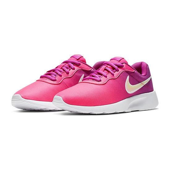 Nike Tanjun Print Girls Running Shoes Lace-up - Big Kids
