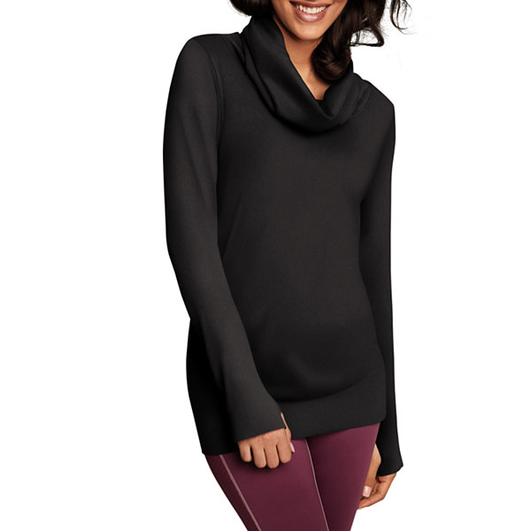 Maidenform Sport Baselayer Seamless Cowl Neck Thermal Shirt
