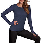 Maidenform Sport Baselayer Seamless Round Neck Thermal Shirt