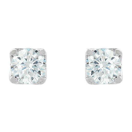 Grown With Love 1/4 CT. T.W. Lab Grown White Diamond 14K White Gold 3.2mm Stud Earrings