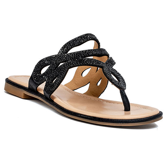 GC Shoes Womens Amelia Flat Sandals