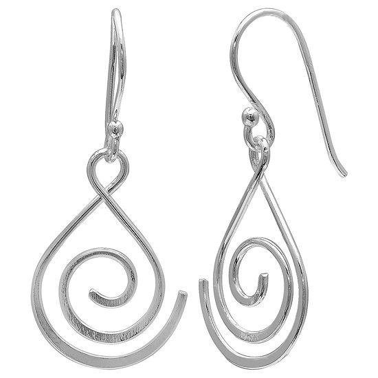 Silver Treasures 1 Pair Sterling Silver Drop Earrings