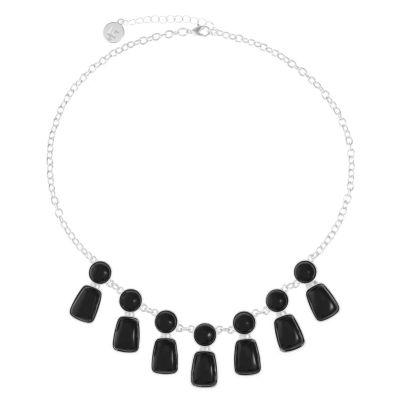 Liz Claiborne Womens Black Statement Necklace