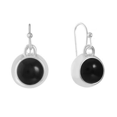 Liz Claiborne Black Drop Earrings