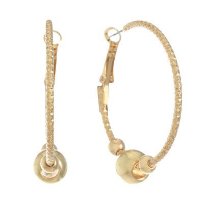 Monet Jewelry 47mm Hoop Earrings
