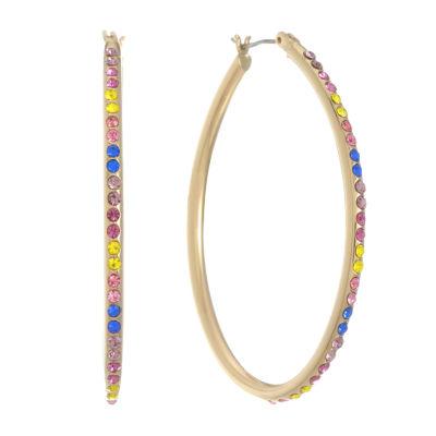 Liz Claiborne Multi Color 49mm Hoop Earrings