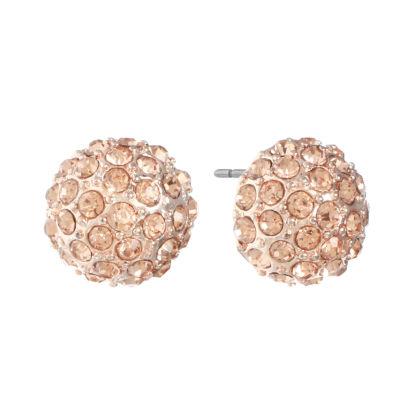 Monet Jewelry Orange 9mm Stud Earrings