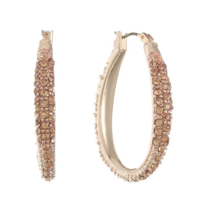 Monet Jewelry Rose 25mm Hoop Earrings