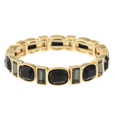 Monet Jewelry Womens Black Stretch Bracelet
