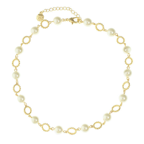 Monet Jewelry White 16 Inch Cable Collar Necklace